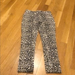 Girls leopard print jeggings NWOT